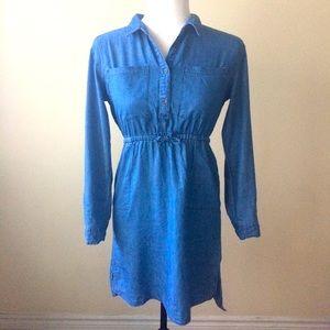 Old Navy Long Sleeve Chambray Denim Dress